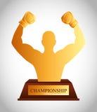 Boxing championship design Royalty Free Stock Photo