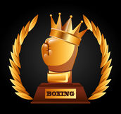 Boxing championship design Stock Photos