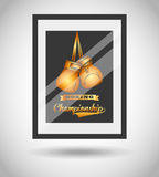 Boxing championship design Stock Image