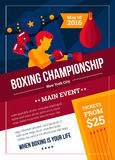 Boxing Championship Poster Stock Photography