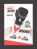 Boxing championship poster Royalty Free Stock Photo