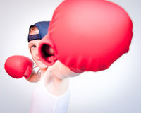 Boxing child Royalty Free Stock Photos