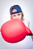 Boxing child Stock Images