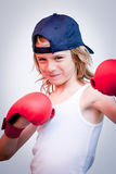 Boxing child Royalty Free Stock Images