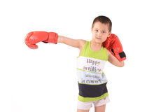 Boxing. Child learns boxing, boy, chinese stock photography