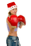 Boxing and Christmas Royalty Free Stock Photos