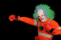 Boxing clown wearing red Stock Images