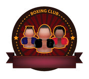Boxing club banner Stock Photography