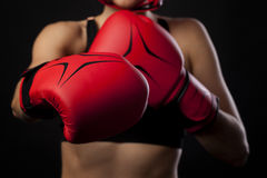 Boxing concept Royalty Free Stock Photos