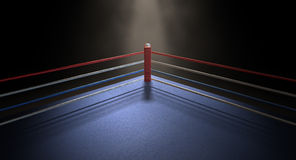 Boxing Corner Spotlit Dark Royalty Free Stock Image