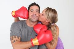 Boxing Couple stock image