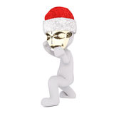 Boxing 3D figure wearing gold tribal mask Royalty Free Stock Images