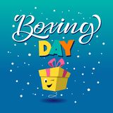 Boxing day banner, symbol or icons. Lettering design of boxing day sale. Vector illustration. EPS 10 royalty free illustration