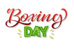 Boxing day banner, symbol or icons. Lettering design of boxing day sale. Vector illustration. EPS 10 vector illustration