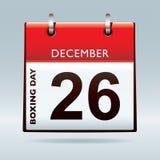 Boxing day calendar stock illustration
