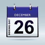 Boxing day calendar blue Stock Photo