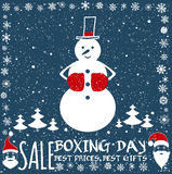 Boxing day card. Stock Images