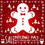 Boxing day card. Stock Photo