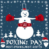 Boxing day card. Stock Photography