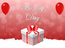 Red boxing day design. royalty free illustration