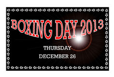 Boxing Day 2013 Royalty Free Stock Photos