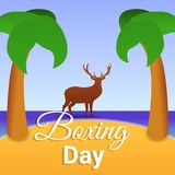 Boxing day island concept background, cartoon style stock illustration
