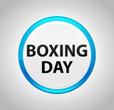Boxing Day Round Blue Push Button vector illustration
