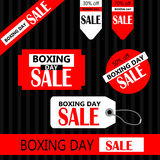 Boxing day Retail Tags Royalty Free Stock Photography