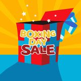 Happy Boxing day sale design with gift boxes , shopping holiday big savings vector illustration