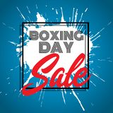 Boxing Day sale background. With grunge splat design stock illustration