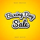 Boxing Day sale banner abstract background. Christmas boxing day celebration design flyer.  Stock Photography