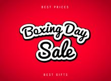 Boxing Day sale banner abstract background. Christmas boxing day celebration design flyer royalty free illustration
