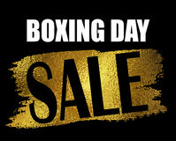 Boxing day sale banner. Stock Photo