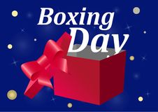Boxing Day sale on a blue background. Sale Flyer. Vector illustration Royalty Free Stock Photography