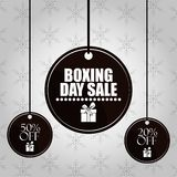 Boxing day sale. Card with shopping round label tags vector illustration graphic design vector illustration