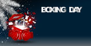 Boxing day sale concept design Stock Images