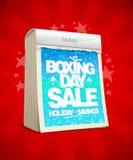Boxing day sale design tear-off calendar. Royalty Free Stock Photos