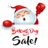 Boxing Day Sale! Santa Claus with red boxing glove. Stock Images