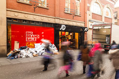Boxing Day sale starts at JD Sports shop in Nottingham, England. Stock Image