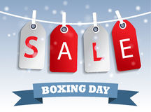Boxing day sale tag hangig Stock Images