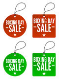 Boxing Day Sale Tags Stock Photos