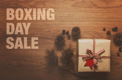 Boxing Day Sale theme background Stock Photography