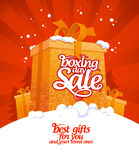 Boxing day sale. Stock Image
