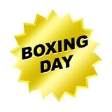Boxing Day Sign. Yellow boxing day sign - web button - internet design Stock Image