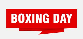 Boxing day. Sign.  paper origami speech bubble.  tag.  banner royalty free illustration