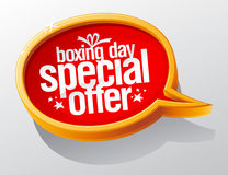 Boxing day special offer, golden sale speech bubble symbol Stock Photos