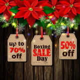 Boxing day tag Royalty Free Stock Image