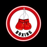 Boxing design Stock Image