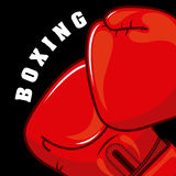 Boxing design Stock Images
