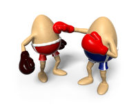 Boxing Egg being hit Stock Photos